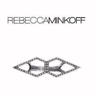 Rebecca Minkoff Silver Double Blade Ring Size 7